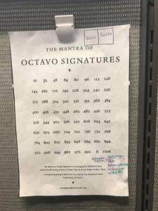 Octavo Signatures